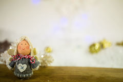 Little Angel fo decoration, bokeh Royalty Free Stock Image