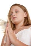 Little angel girl Stock Photo