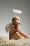 Little angel girl Stock Image
