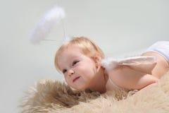 Little angel girl Stock Image
