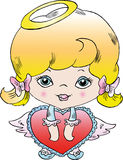 Little angel girl Stock Photography