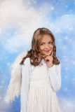 Little Angel girl on a cloud Royalty Free Stock Images