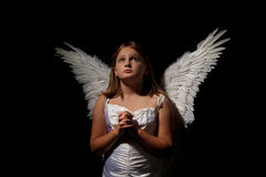 Little angel girl at night Royalty Free Stock Photos