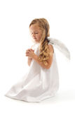 Little angel girl praying Royalty Free Stock Photos