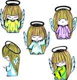 Little angel girls Royalty Free Stock Photos
