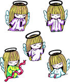 Little angel girls Stock Photos