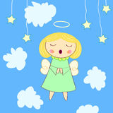 Little angel greeting card Royalty Free Stock Image