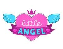 Little angel illustration. Cute  girlish design element Stock Image