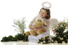 Little Angel Lamb-Lover Stock Image
