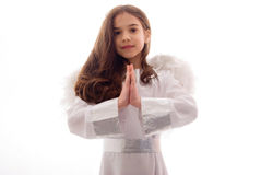 Little Angel Praying Gratefully Stock Photography