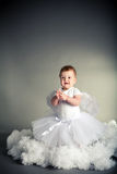 Little angel in the sky Stock Photography