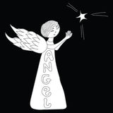 Little angel with a star Stock Image