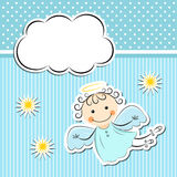Little angel with stars and cloud Stock Image