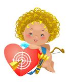 Little angel with a target Royalty Free Stock Images