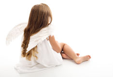 Little angel thinking Royalty Free Stock Images