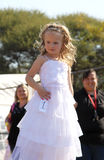 Little Angel in white dress at Beauty Pageant Royalty Free Stock Photos