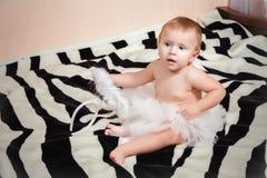Little angelic gir Stock Image