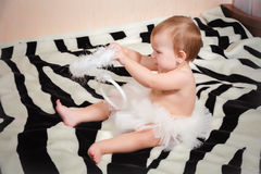 Little angelic gir Royalty Free Stock Images