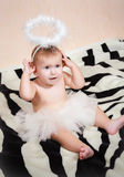Little angelic gir Stock Photo
