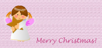 Little angelic with star. Little angel with star,in rose for christmas Stock Image