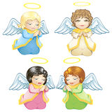 Little angels. Four cute little baby angels Royalty Free Stock Image