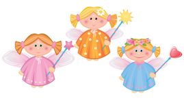 Little angels. Little angels made in vector, Adobe Illustrator 8 EPS file Stock Images