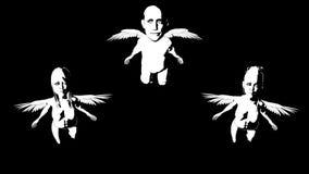 Little angels. Alpha channel. Alpha matte. 4K. stock footage