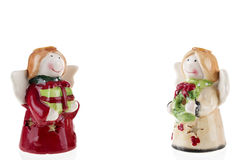 Little angels Christmas with gifts Royalty Free Stock Photos