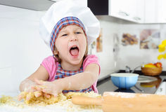 Little angry baker Royalty Free Stock Photography