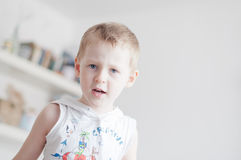 Little angry boy Royalty Free Stock Photo