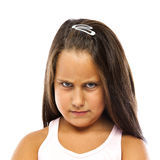 Little Angry Girl Royalty Free Stock Photos