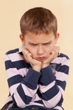 Little angry offended boy. Royalty Free Stock Photo