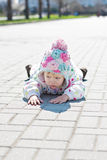 Little angry toddler girl Royalty Free Stock Photos