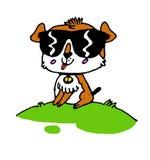 Little animal dog. Hand painted illustration , cartoon illustration isolated on white background Royalty Free Stock Photo