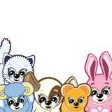 Little Animals. Smiling cartoon for your design Royalty Free Stock Photo