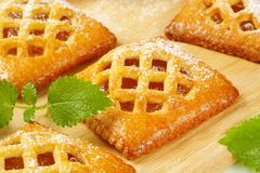 Little apricot pies stock image