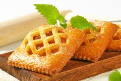 Little apricot pies stock images