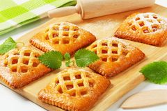 Little apricot pies Stock Photography