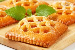 Little apricot pies stock photo