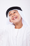 Little Arab boy. Portrait of a young smiling Arab boy Stock Image