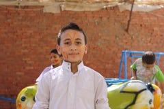 Little Arabic boy in traditional Arabic wear Stock Photos