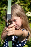 Little archer girl Royalty Free Stock Photo