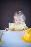 Little Architect. Cute little girl as an Architect Royalty Free Stock Images