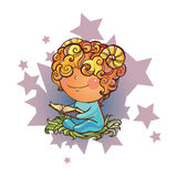 Little Aries. Vector illustration of Aries zodiac sign Royalty Free Stock Photos