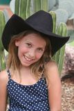 Little Arizona Cowgirl Stock Photography