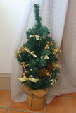 Little artificial Christmas tree Stock Photo