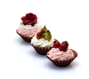 Little artificial sweets Stock Images