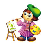 Little Artist Stock Image