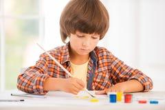 Little artist. Stock Image