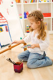 Little artist girl Royalty Free Stock Photography